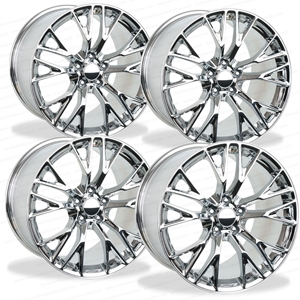 2015, 2016, 2017, C7 Corvette Z06 GM Wheel Exchange (Set) : Chrome 19x10/20x12