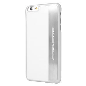 C7 Corvette Script - Hardcase iPhone 6 PLUS Case : Silver Brushed 2014 2015