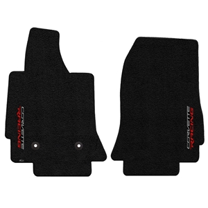 2014, 2015, 2016, 2017, C7 Corvette Stingray Floor Mats - Lloyds Mats with Sideways Corvette Racing Script Logo : Stingray, Z06