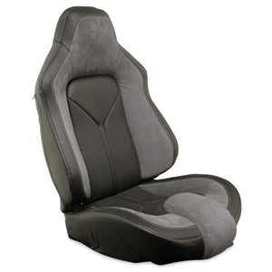Corvette Sport Seat Foam & Seat Covers - Steel Gray/Black : 2005 - 2013 C6, Z06, GS & ZR1
