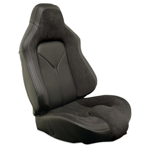 Corvette Sport Seat Foam & Seat Covers - Black/Black : 2005 - 2013 C6, Z06, GS & ZR1