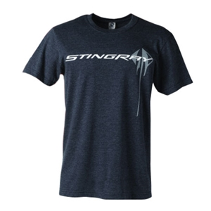 C7 Corvette Stingray Chest Logo Prey T-shirt : Heather Midnight - 2014+