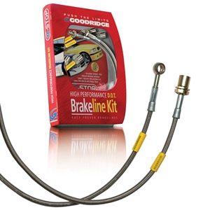 Corvette Goodridge G-Stop Brake Lines - Stainless Steel (Set) : 1988-1992 C4