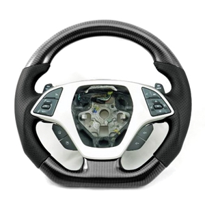 2014,2015,2016,2017, C7 Corvette Stingray - D Shaped Flat Bottom Steering Wheel : Carbon Fiber
