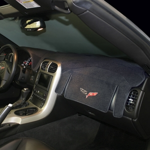 Corvette Embroidered Dash Mat - Custom Fit : 2005-2013 C6