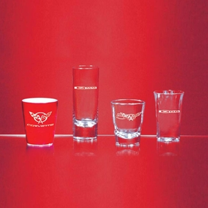 Corvette Glassware with C5 Corvette Logo