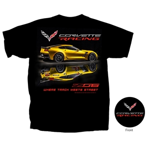 2014, 2015, 2016, 2017, C7 Corvette - Z06 Corvette Racing T-shirt : Black