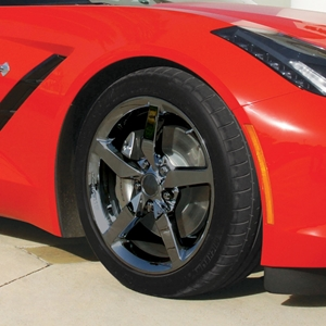 2014, 2015, 2016, 2017, Corvette Stingray Black Chrome Wheel Exchange - Standard - 18x8.5/19x10 : 2014 C7