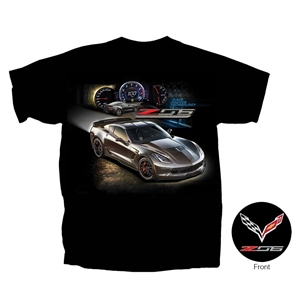 2014, 2015, 2016, 2017, C7 Corvette - Race Proven Z06 Supercharged T-shirt : Black