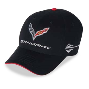 C7 Corvette Stingray Car Color Matching Hat/Cap - Embroidered : Black