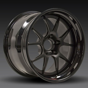 Corvette 3-piece Wheels - ForgeLine GA3R (Set) : Matt Black Center/Gloss Black Lip