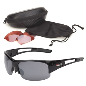 Corvette Rimless Sunglasses - Gloss Black : C7 Z06 Logo
