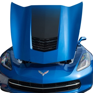 2014,2015,2016,2017 Corvette Hood Graphic Sport Fade Decal - Black : C7 Stingray