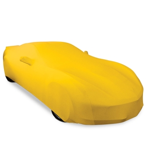 C7 Corvette Stingray, Z51, Z06, Grand Sport, ZR1 Ultraguard Stretch Satin Car Cover - Yellow - Indoor
