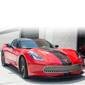 2014, 2015, 2016, 2017, C7 Corvette Stingray, Z51, Z06 Expanded Diamond Pattern Front Grille Stainless Steel Overlay