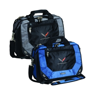 2014, 2015, 2016, 2017, Corvette OGIO Corporate Messenger Bag with C7 Cross Flags Logo : C7 Stingray