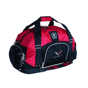 2014, 2015, 2016, 2017, Corvette OGIO Big Dome Duffle with C7 Cross Flags Logo : C7 Stingray