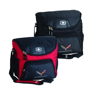 2014, 2015, 2016, 2017, Corvette OGIO 18-24 Can Cooler with C7 Cross Flags Logo : C7 Stingray