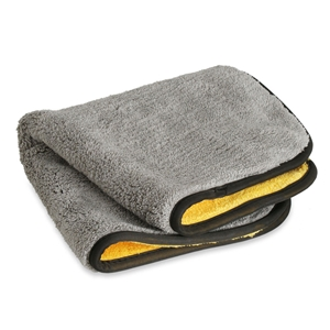 Liquid X Extra Thick Plush Microfiber Drying Towel : Gray/Yellow