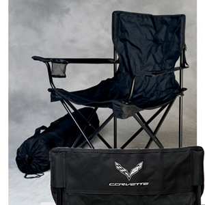 Corvette Travel Chair with C7 Corvette Logo Black