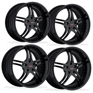Corvette Custom Wheels - WCC 946 EXT Forged Series (Set) : All Gloss Black