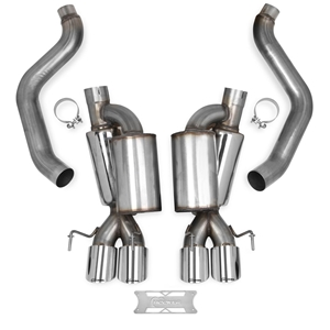"2005-2008 C6 Corvette Exhaust System Hooker Blackheart Axle-back 3"" Tips."