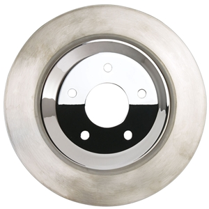 Corvette Brake Rotor Hub Covers - Chrome (Set) : 2005-2013 C6 Non-Z51
