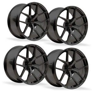 Corvette One-Piece Forged Monoblock Wheels - ForgeLine VX1R (Set) : Black Chrome