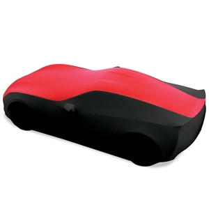 C7 Corvette Stingray, Z51, Z06, Grand Sport, ZR1 Ultraguard Stretch Satin Sport Car Cover - Red/Black - Indoor