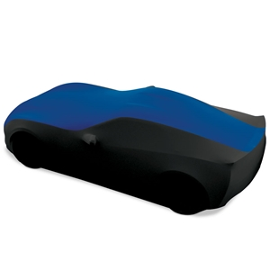 C7 Corvette Stingray, Z51, Z06, Grand Sport, ZR1 Ultraguard Stretch Satin Sport Car Cover - Blue/Black - Indoor