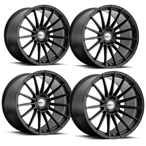 "C5, C6, C7 Corvette Wheels (Set) - Cray Mako Gloss Black : 18"" x 9.5"" / 19"" x 10.5"""