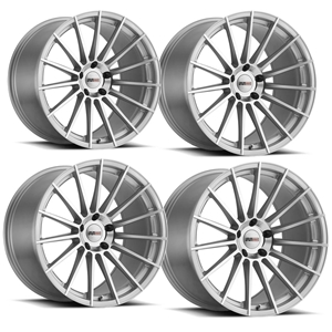 "C5, C6, C7 Corvette Wheels (Set) - Cray Mako Titanium Silver with Mirror Face : 18"" x 9.5"" / 19"" x 10.5"""