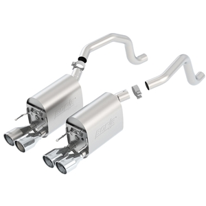 "2005-08 C6 Corvette Exhaust System - Borla Touring Axle-Back /4"" Round Tips"