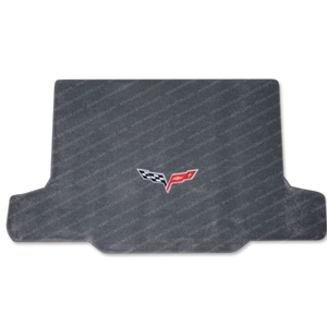 2005-2013 C6 Corvette Convertible Steel Grey with C6 Emblem Cargo Mat