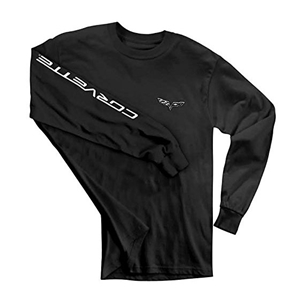 C6 Corvette Long Sleeve Tee Shirt : Black