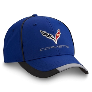 2014, 2015, 2016, 2017 C7 Corvette Stingray - Embroidered Performance Cap/Hat : Blue
