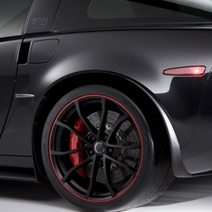 2013 Corvette - Genuine GM - 60th Anniversary - 427 Cup Wheels : Satin Black w/Red Stripe