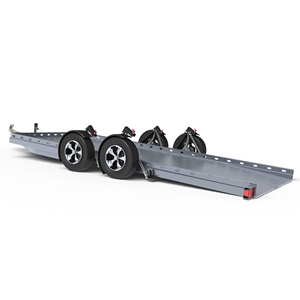 Futura Trailers Tandem Axle Trailer is designed to transport wide and low vehicles.
