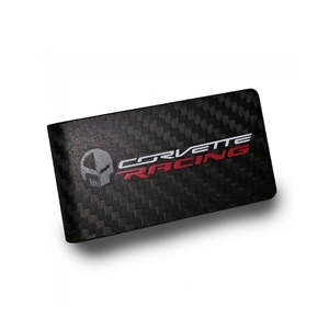2014, 2015, 2016, 2017, C7 Corvette Racing Jake Skull Carbon Fiber Money Clip - Black : C7 Stingray, Z51, Z06, Grand Sport