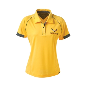 2014, 2015, 2016, 2017 C7 Corvette Racing  Hybrid Polo : Gold/Graphite
