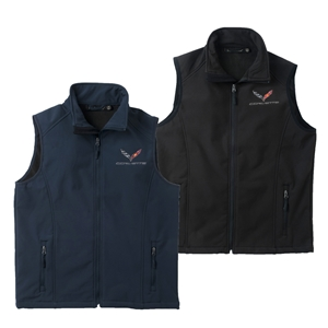 2014, 2015, 2016, 2017, C7 Corvette Embroidered Workwear Vest : Black, Navy or Royal Blue