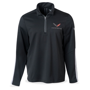 2014, 2015, 2016, 2017, C7 Corvette Under Armour Qualifier Quarter Zip Jacket : Black