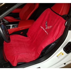 2014, 2015, 2016, 2017 C7 Stingray, Z51, Z06, Grand Sport Corvette Adrenalin Red Seat Armour Seat Cover/Seat Towels