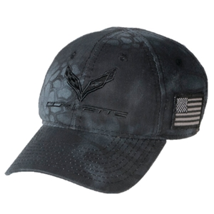 C7 Corvette Camo Hat with USA Flag - American Legacy Collection
