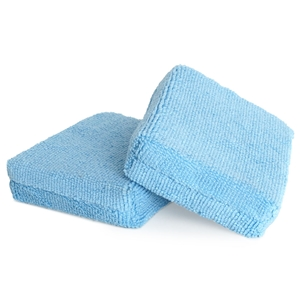 Liquid X Microfiber Applicator Pads Small - Rectangle Blue