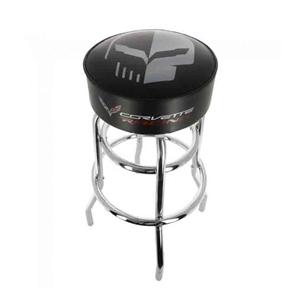 2014, 2015, 2016, 2017, 2018 C7 Corvette Racing Silver Jake Counter/Pub Stool