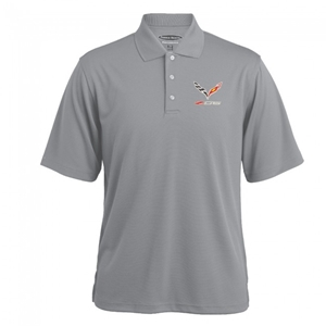 C7 Corvette Z06 Texture Polo - Gray Heather