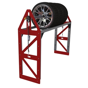 Futura Trailers Extended Aluminum Tire Rack with Pole