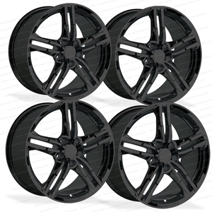 Corvette GM Wheel Exchange (Set) - Gloss Black : 2016 C7 Stingray 18x8.5 19x10, 2016, 2017