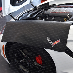 Corvette Fender Mat with C7 Crossed Flags Logo : Black